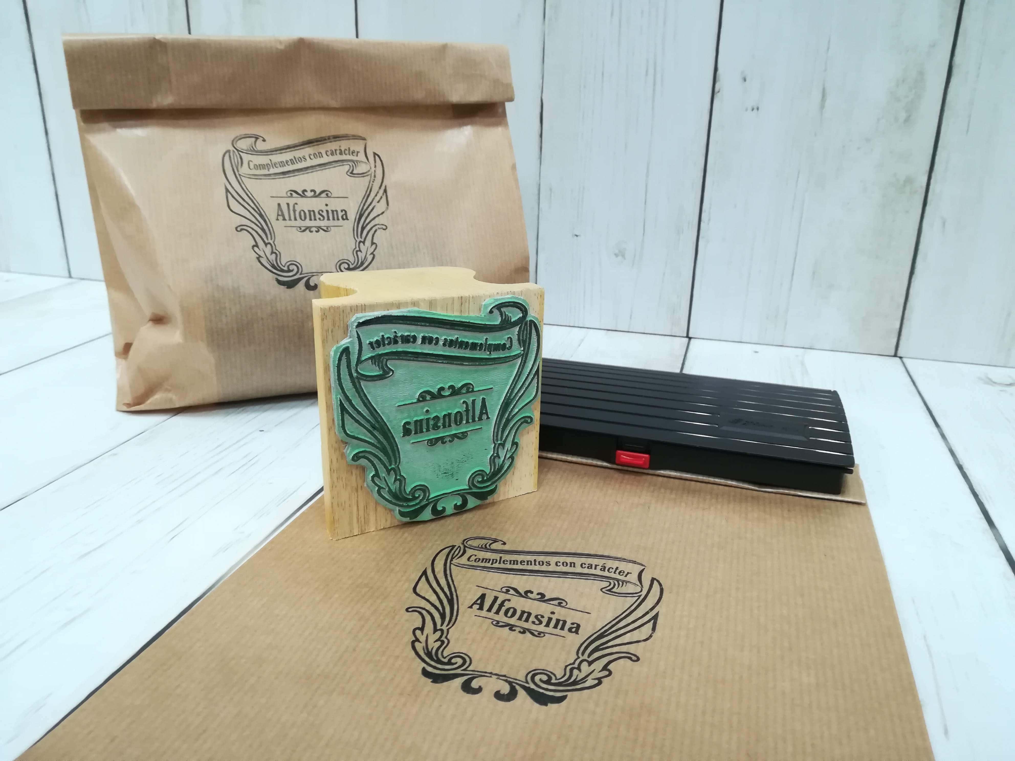 Sellos personalizados para bolsas de papel