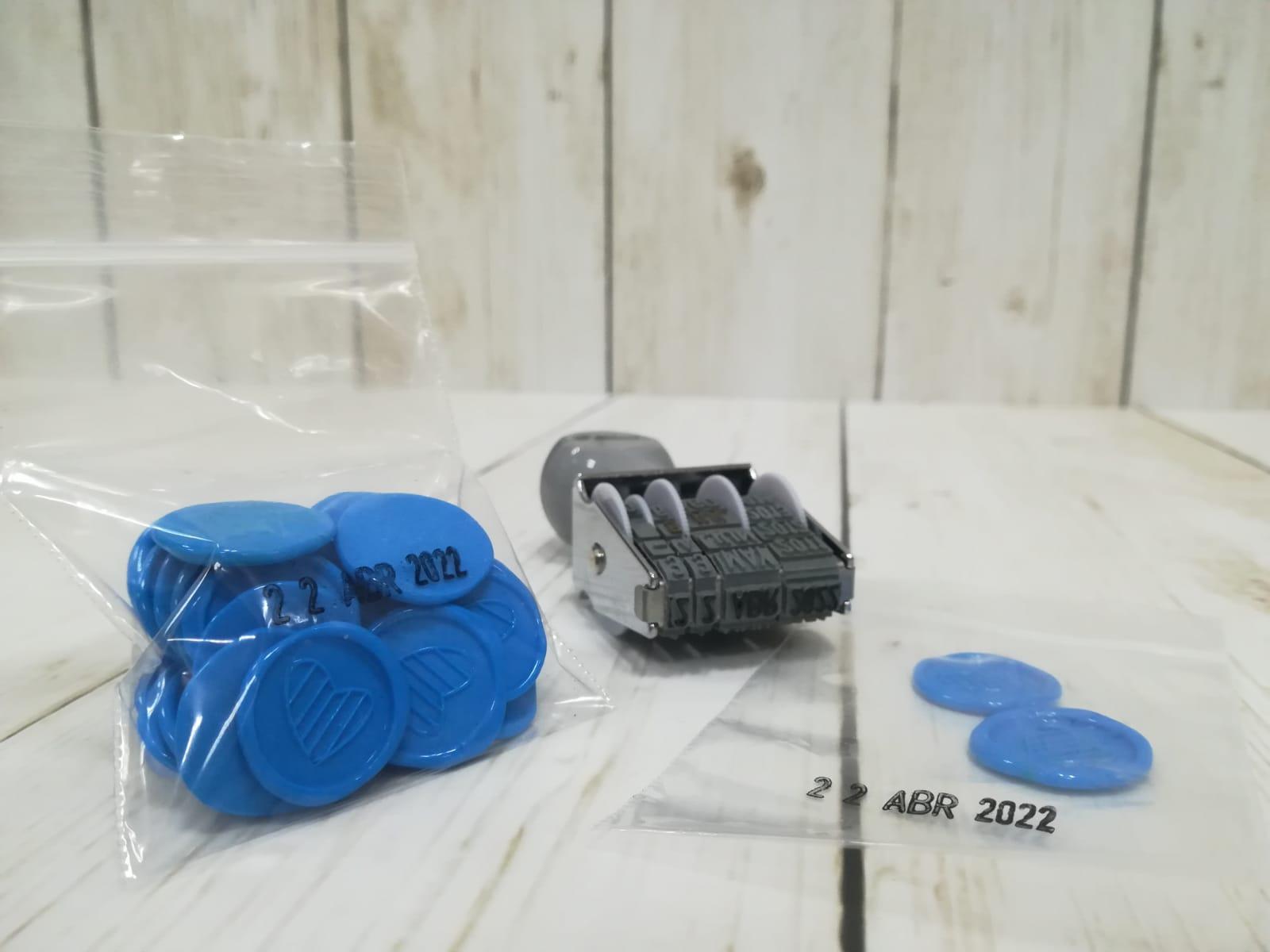 Sellos fechadores manuales para plástico
