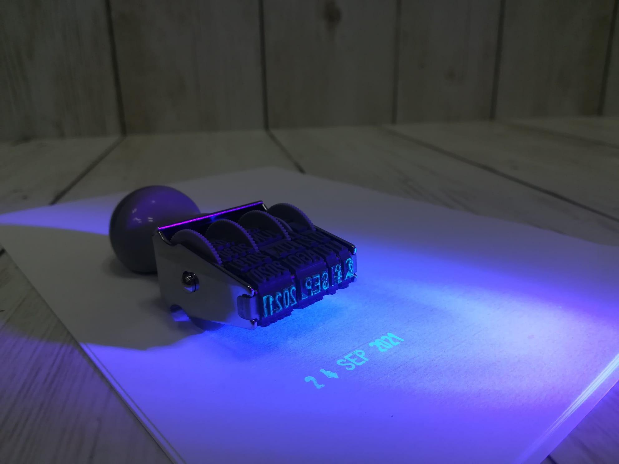 Sellos fechadores manuales ultravioleta para seguridad de documentos