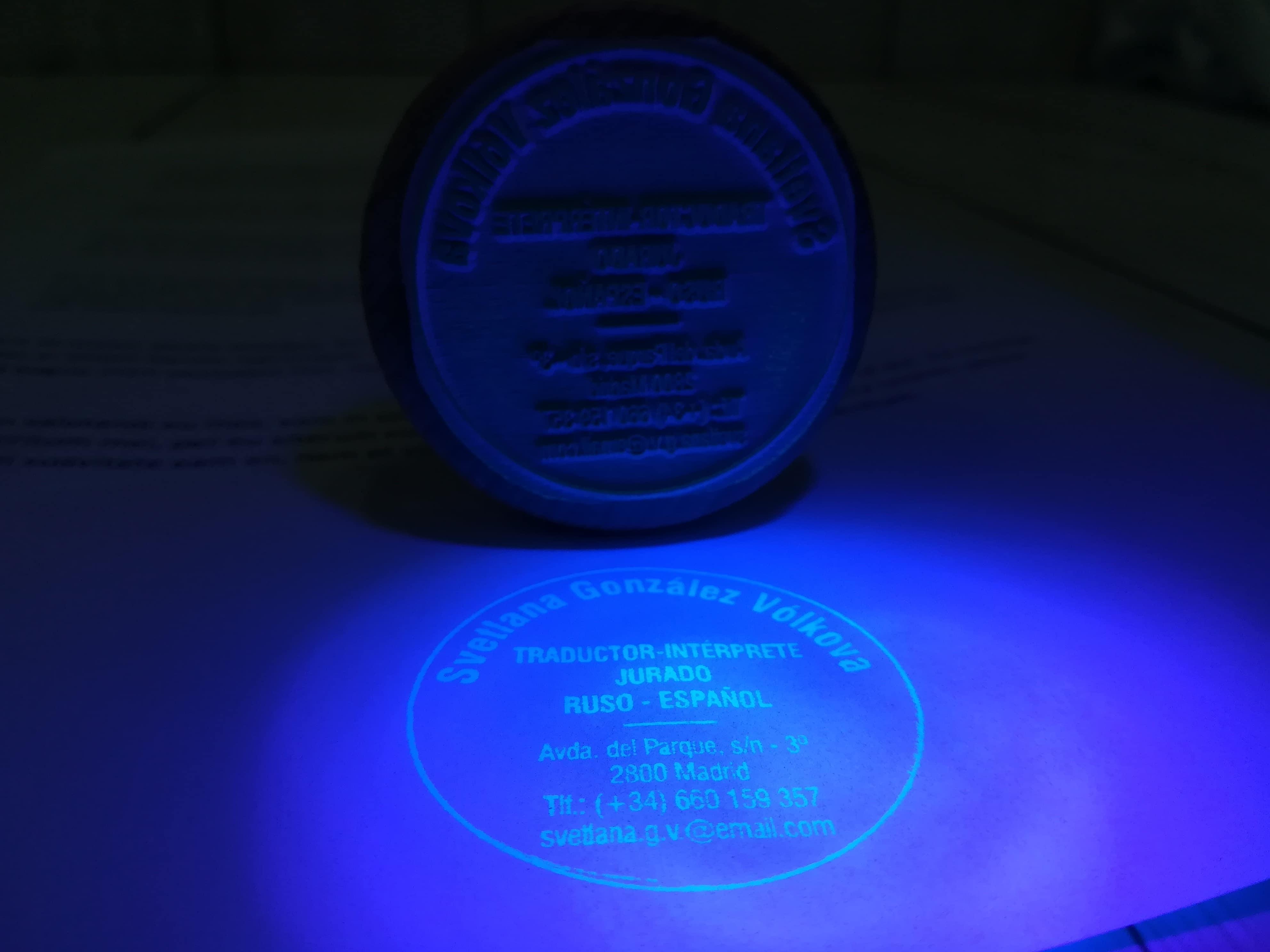Sellos personalizados ultravioleta para seguridad de documentos