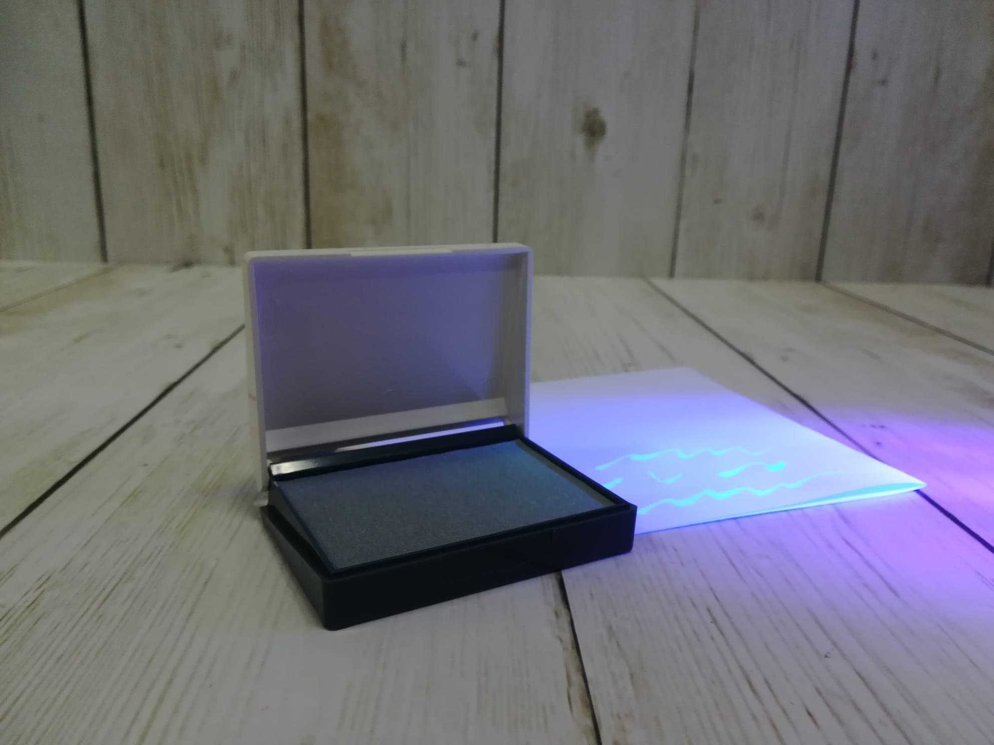 Tampones para sellar documentos con tinta ultravioleta