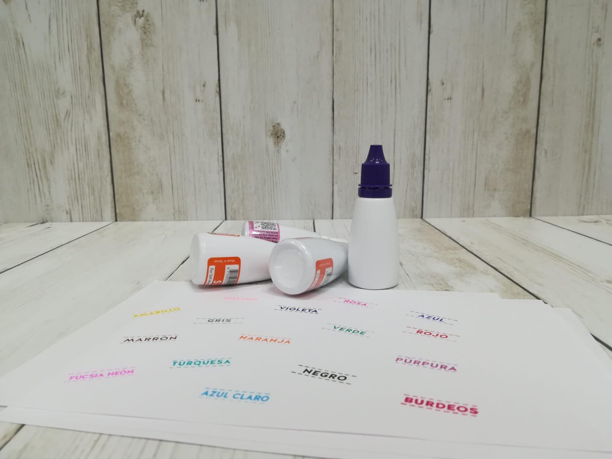 Tintas para sellar papel