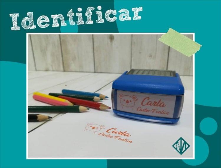 Sellos para marcar libros y cuadernos