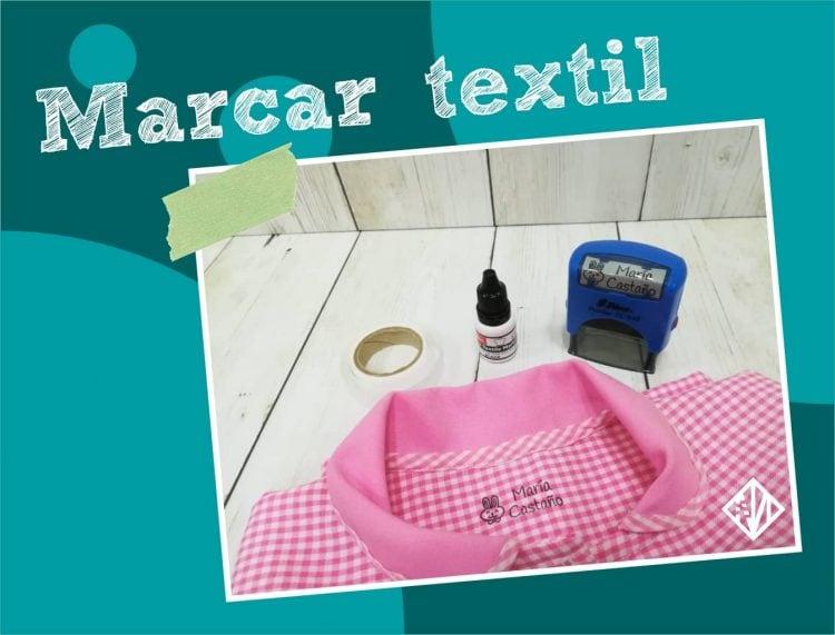 Sello para marcar uniformes de los niños y textil