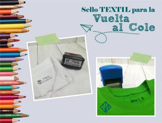 Sellos automáticos para marcar ropa, uniformes y mascarillasr