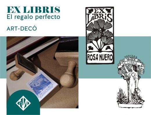 Diseños art-decó para sellos Ex-libris
