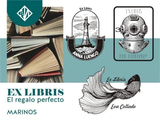 Tendencia marinera para diseño de Ex-libris personalizados