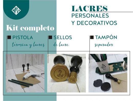 Kit de lacrado para un acabado perfecto: sellos de lacre, pistola térmica, barras de lacre y tampón separador